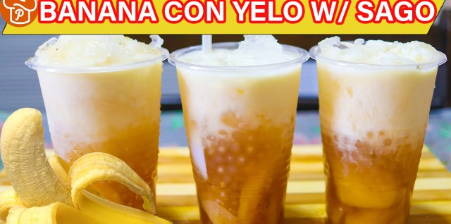 Banana Con Yelo with Sago Recipe