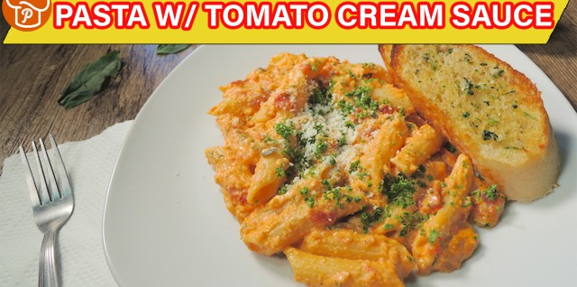 Pasta with Tomato Cream Sauce Recipe