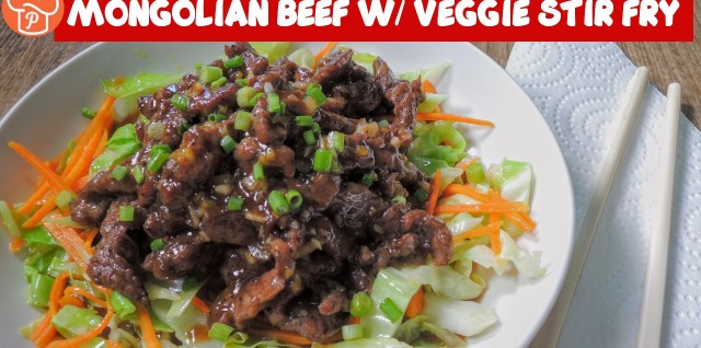 Mongolian Beef with Veggie Stir Fry Recipe