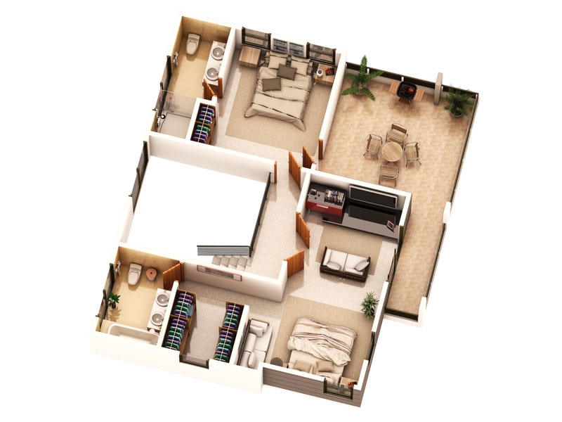 House 2nd floor design - House interior