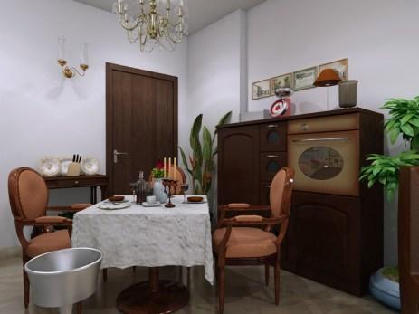 Interior-apartment-dining-room