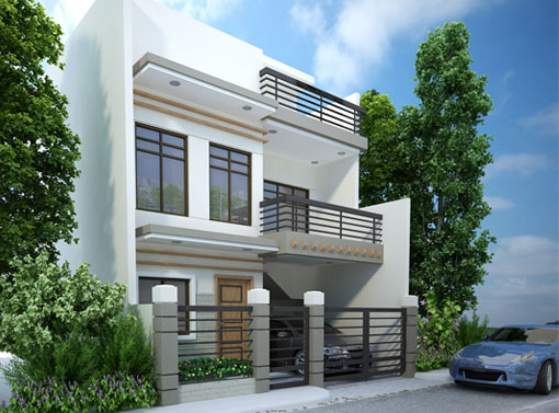 Modern house designs series mhd 2012007 pinoy eplans for Modern house design with floor plan in the philippines