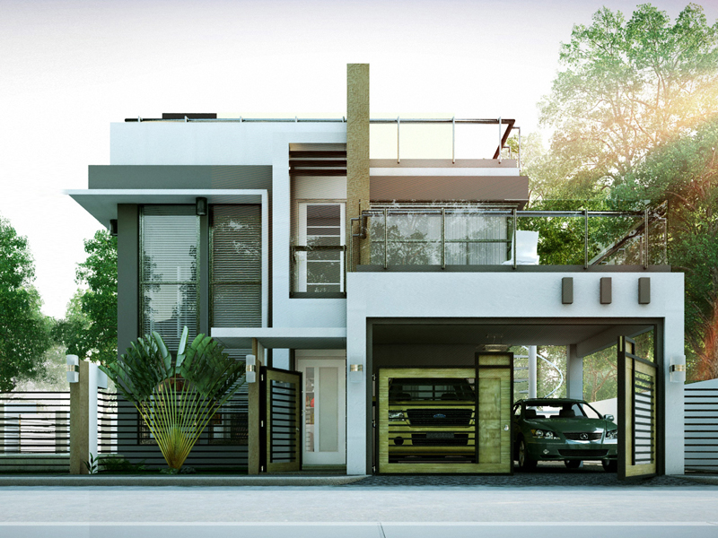 Modern House Designs Series MHD2014010  Pinoy ePlans