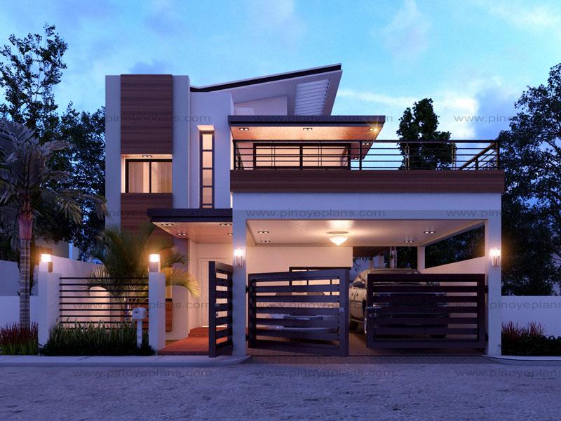 Modern House Design Series: MHD-2014012   Pinoy ePlans ...
