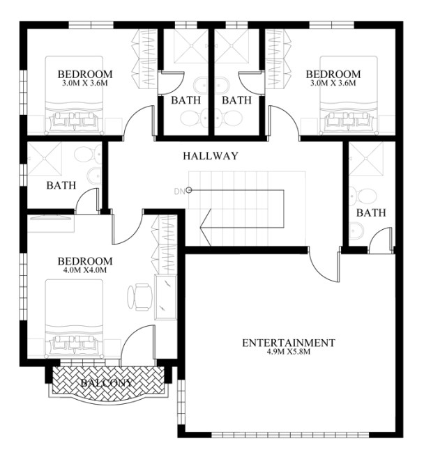 Contemporary house design mhd 2014011 pinoy eplans for Second floor house plans indian pattern