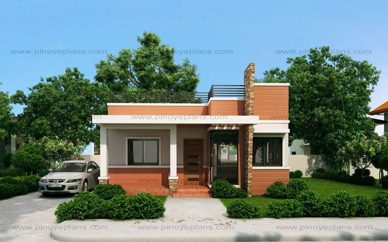 Rommell – One Storey Modern With Roof Deck Pinoy EPlans Modern