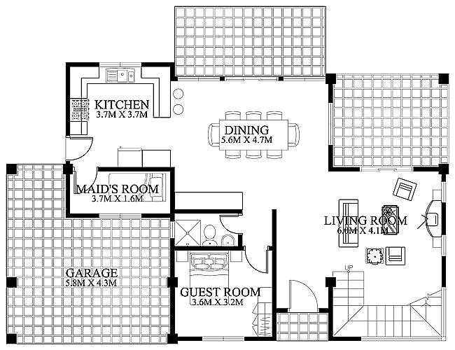 Modern House Design 2012002 Ground FloorPinoy EPlans Modern
