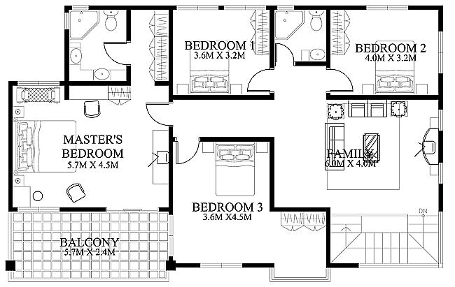 Modern House Design 2012002 Second Floor Resize 650 2c411 Home Floor Plans Design