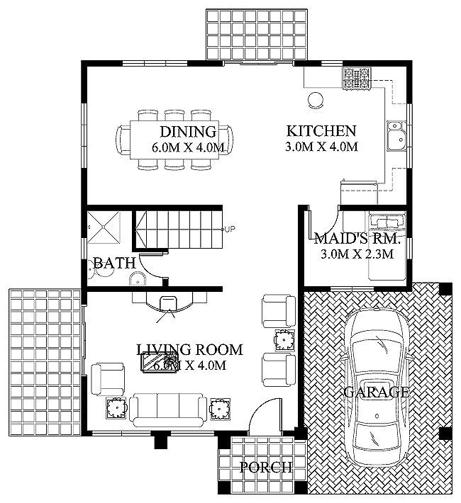 Modern house floor plan layout