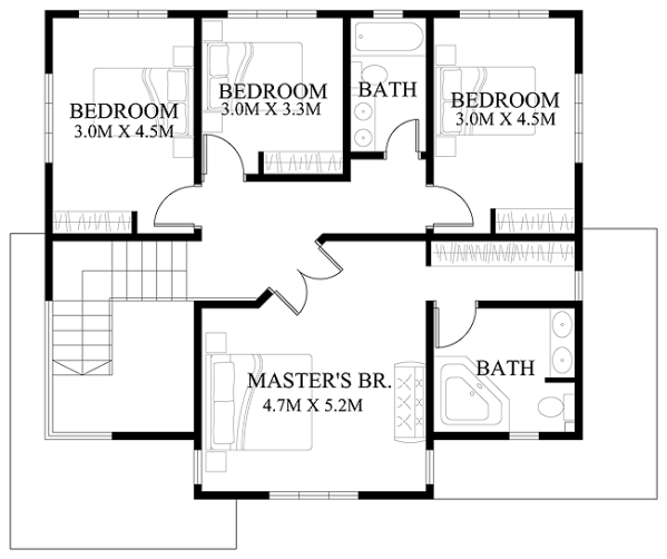 Modern House Design Series Mhd 2012006 on modern bungalow house floor plans