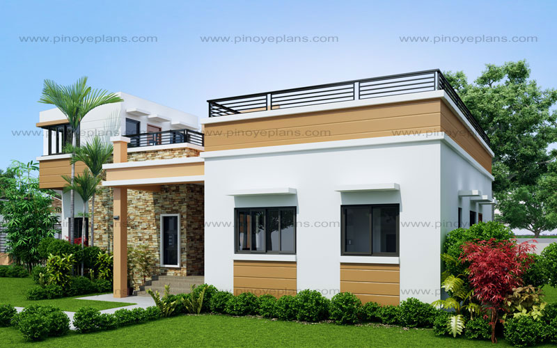 Rey  four bedroom one storey with roof deck shd pinoy eplans mathematica house design plans also rh pinterest