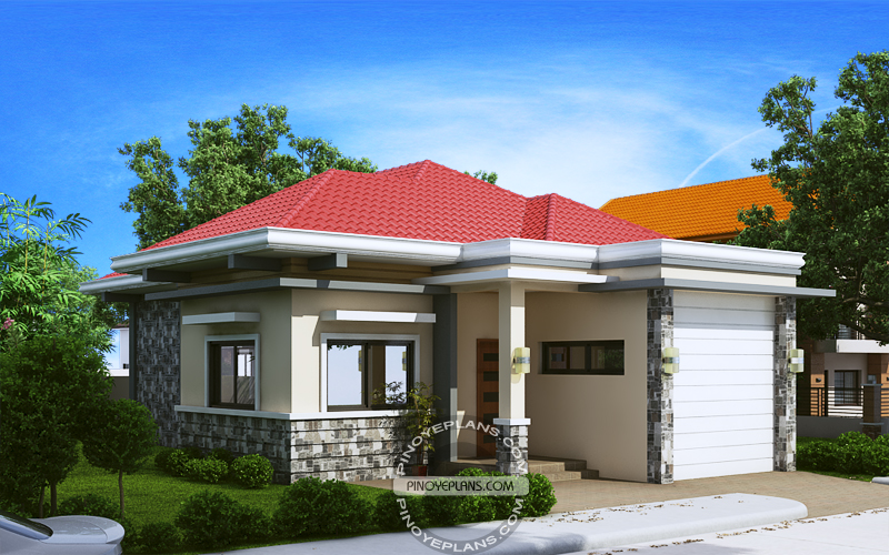 Pia Confidently Beautiful 2 Bedroom House Plan  Pinoy