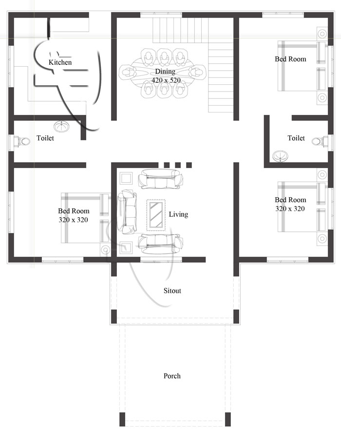 Modern 3Bedroom One Story House Plan  Pinoy ePlans