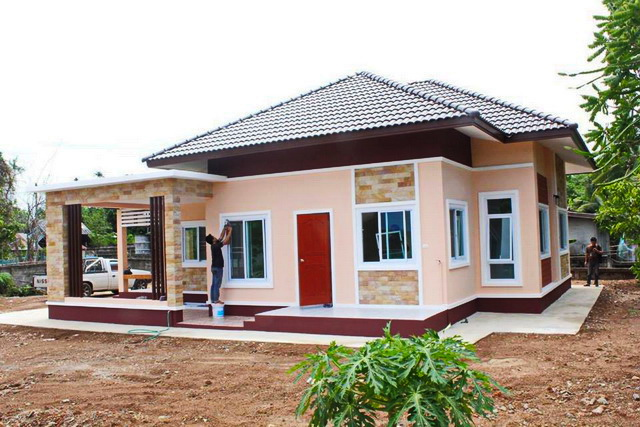 Bungalow House Design Philippines Low Cost One Storey: Tropical Style One Storey House Design