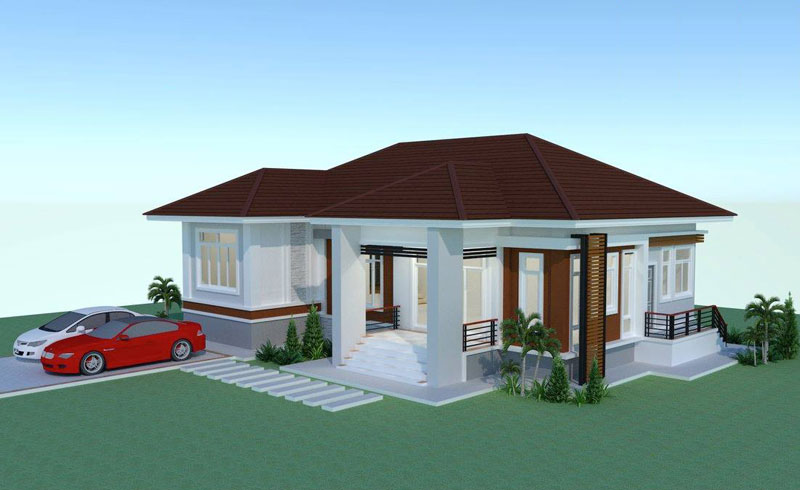Review Elevated 3 Bedroom Thai House Design Pinoy Eplans