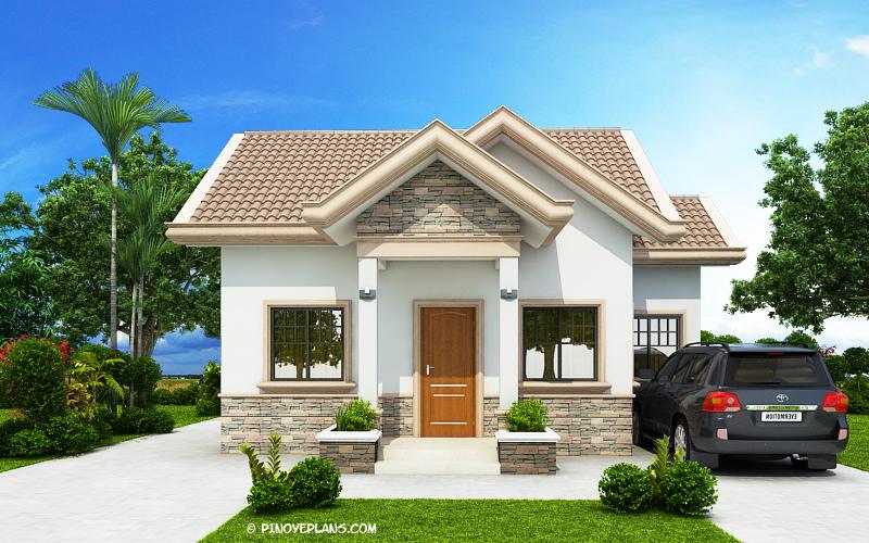Peralta - 2 Bedroom Bungalow House Design | Pinoy ePlans