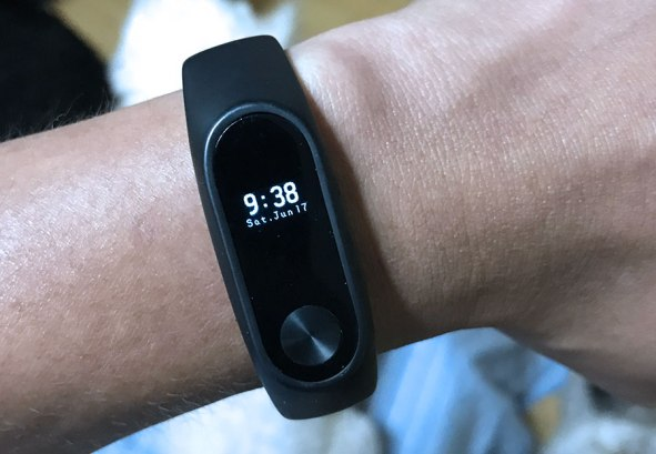 Xiaomi Mi Band 2 in my wrist