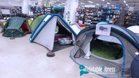 Decathlon Philippines tents setup