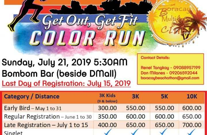 Boracay Beachaton color run beach philippines 2019