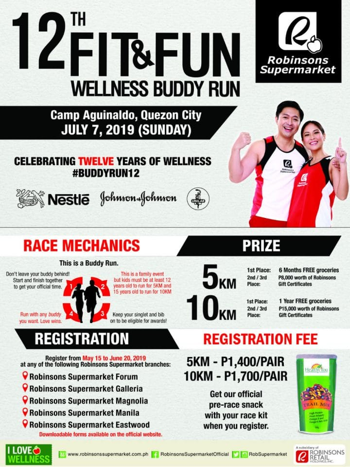 Fit and Fun Wellness Buddy Run 2019 pinoy fitness events philippines image1