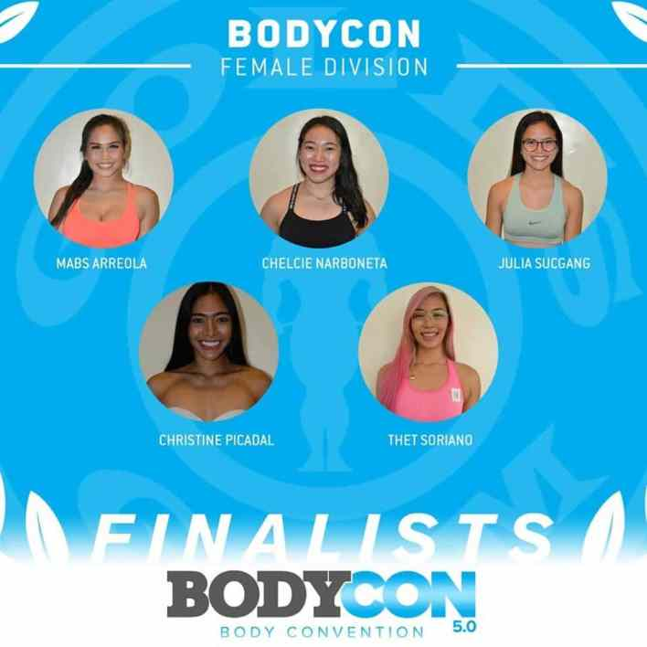 Gold's Gym BodyCon 5.0 Finalists - BodyCon Female Category