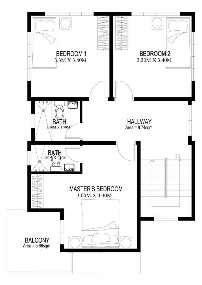 Two Story House Plans Series : PHP-2014005