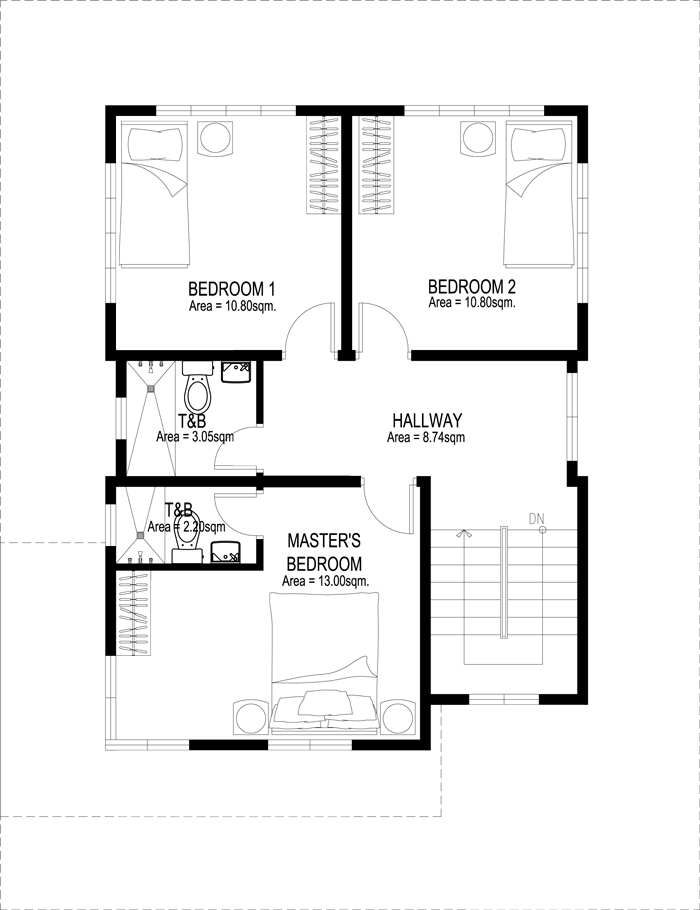 Two Story House Plans Series : PHP-2014007