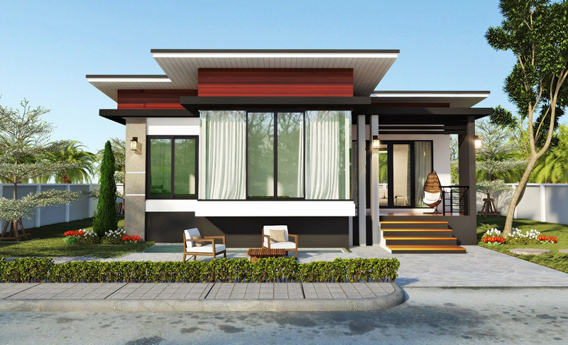 Modern 2Bedroom Single Story House  Pinoy House Plans