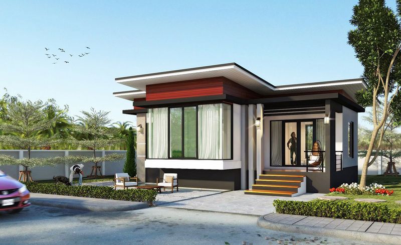 Modern 2 Bedroom Single Story House Pinoy House Plans