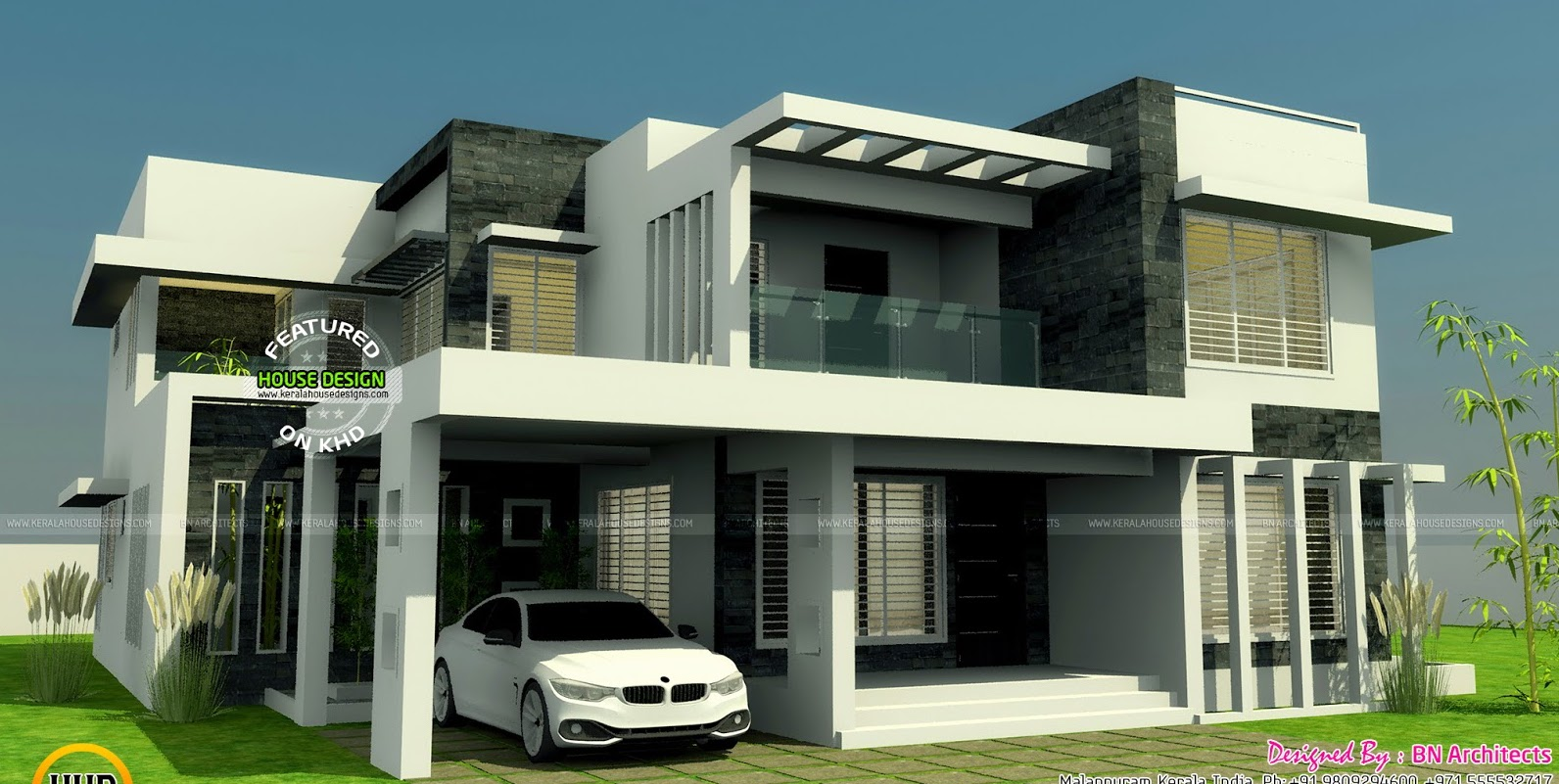 Modern Two Storey House With Three Bedrooms and Three