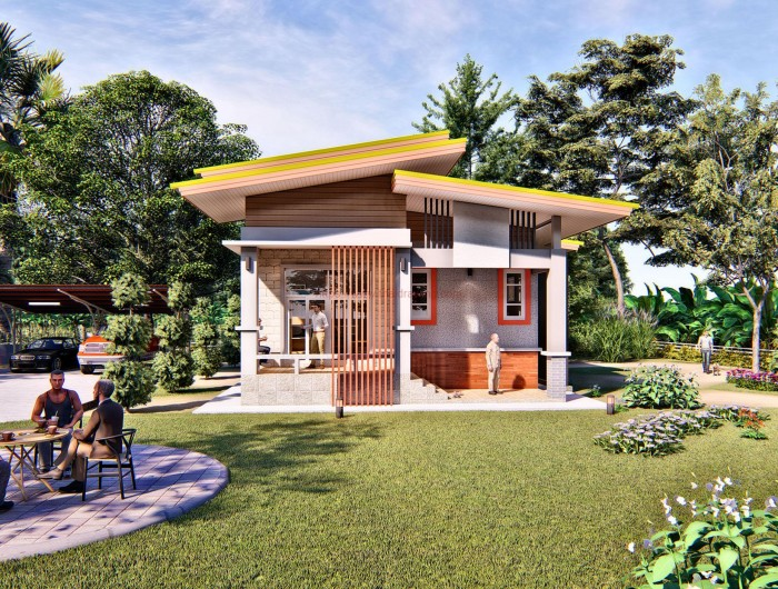 Petite Thai Design Bungalow With Two Bedrooms And Two