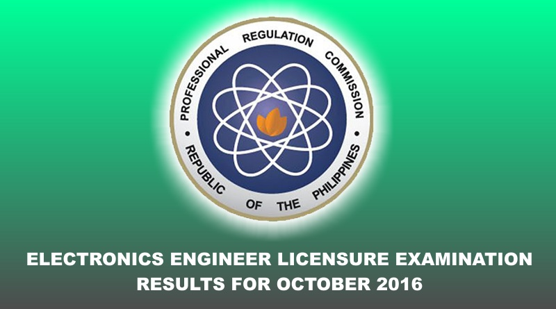 ECE Licensure Examination Result October 2016