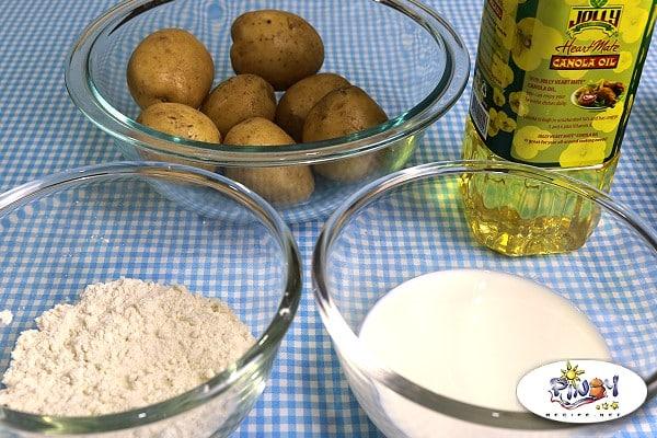 Ingredients of Mojo Potatoes