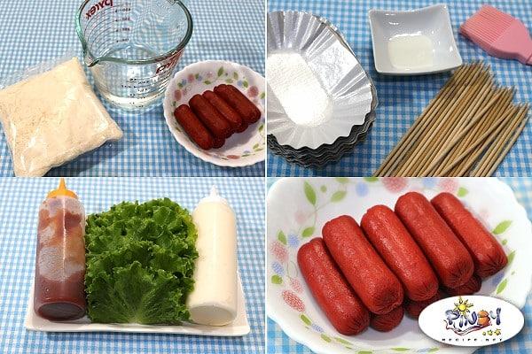 Waffle Hotdog - Ingredients