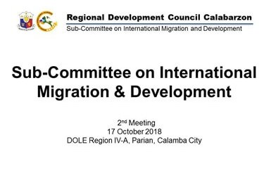 Sub-Committee on International Migration and Development