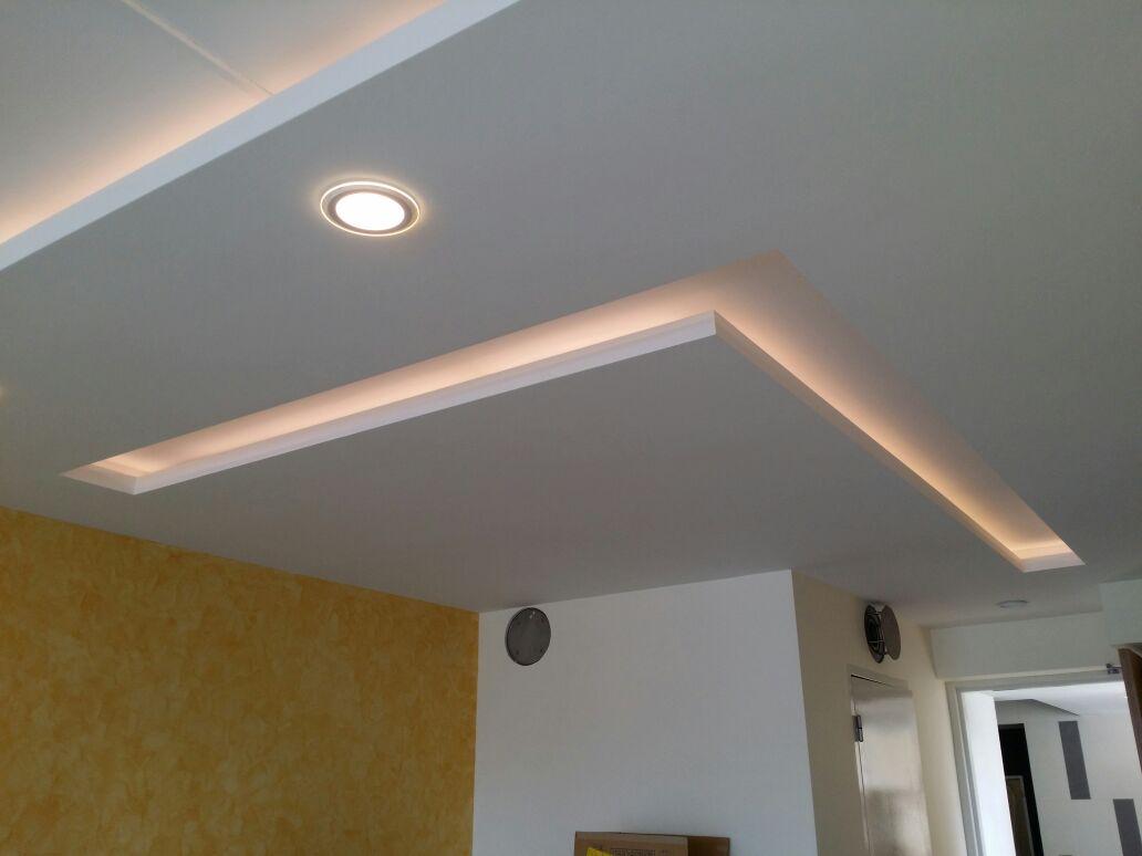 P O P Fall Ceiling Wallpaper False Ceilings L Box Partitions Lighting Holders