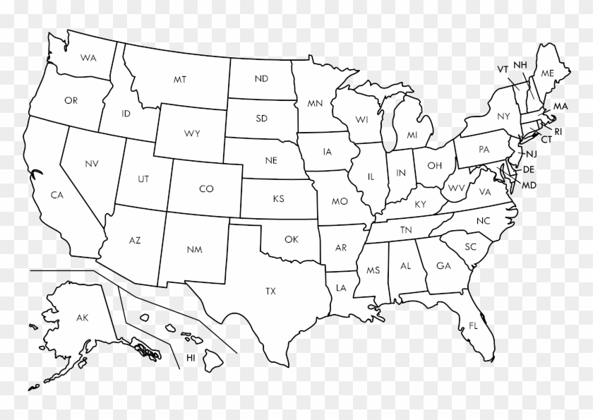 This helps the person reading the map understand where to find certain items. Blank Us Map Borders Labels Blank Us Map With States Hd Png Download 800x533 331040 Pinpng