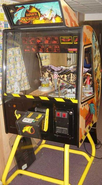 1991 Bromley Hawk Avenger coin operated helicopter arcade game
