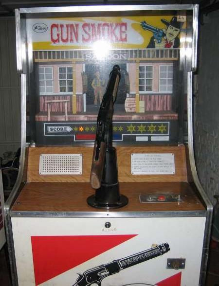 Kasco Gun Smoke coin operated mechanical gun rifle arcade game
