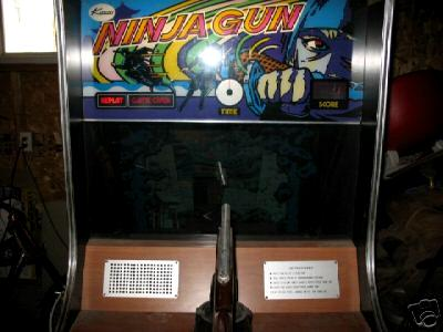 Kasco Ninja Gun coin operated mechanical arcade gun game