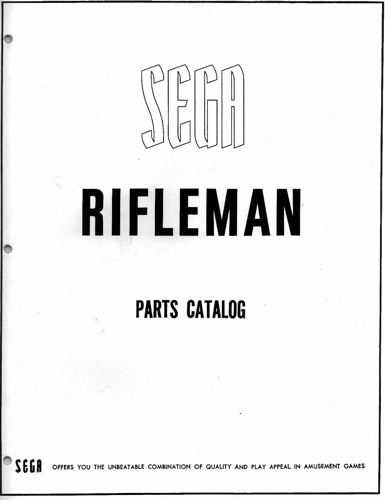 1967 Sega Rifleman coin operated gun rifle range arcade game