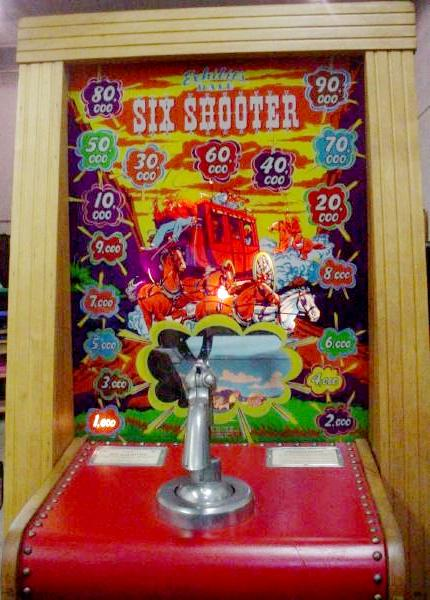1950 DaleExhibit Supply Six Shooter coin operated gun