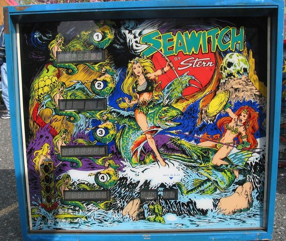 Stern Seawitch Stern Sea Witch pinball machine  collector