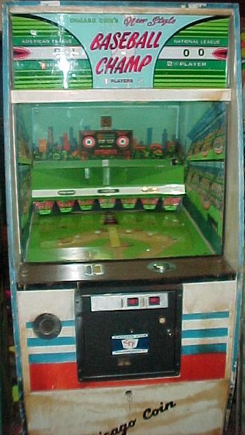 1973 Chicago Coin Baseball Champ arcade pinball game