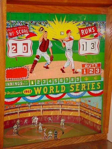 1962 Williams World Series baseball pinball arcade game