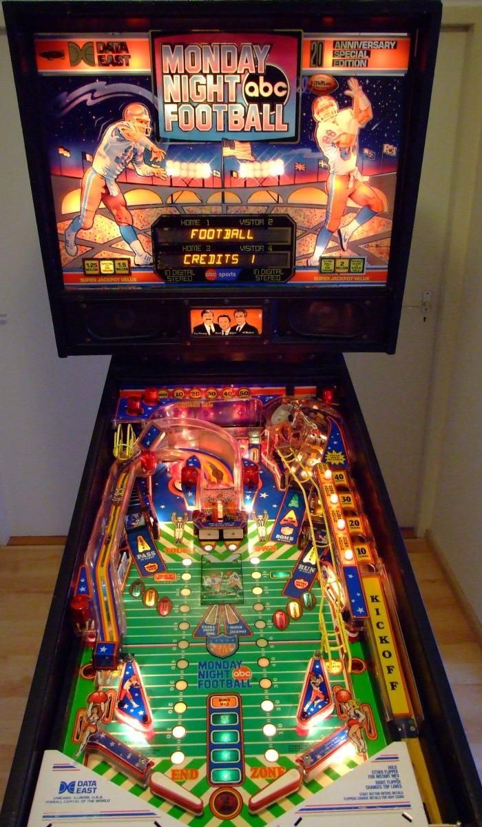 DataEast Monday Night Football pinball machine  collector buying