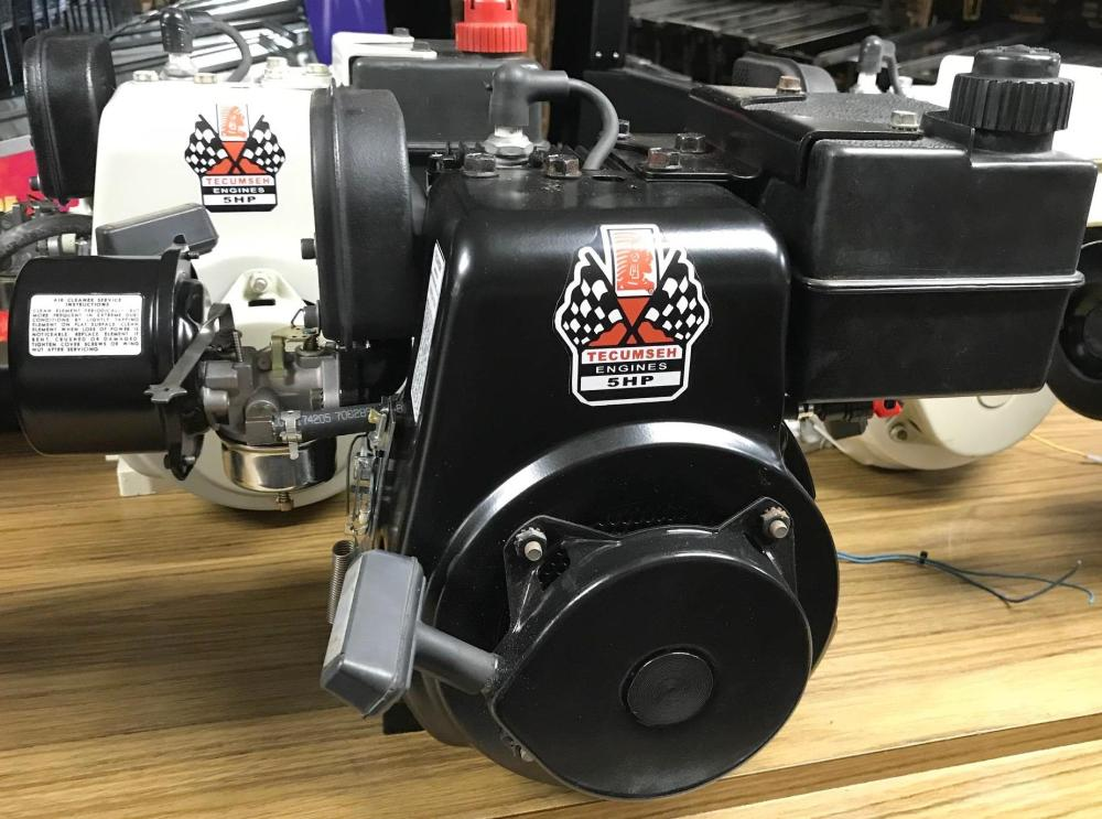 medium resolution of or if you prefer in black a minibike ready tecumseh hs50 this particular motor came off a 1970s arien snowblower