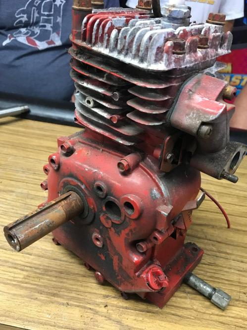 small resolution of parts are removed from the motor making it a long block ready for some serious work