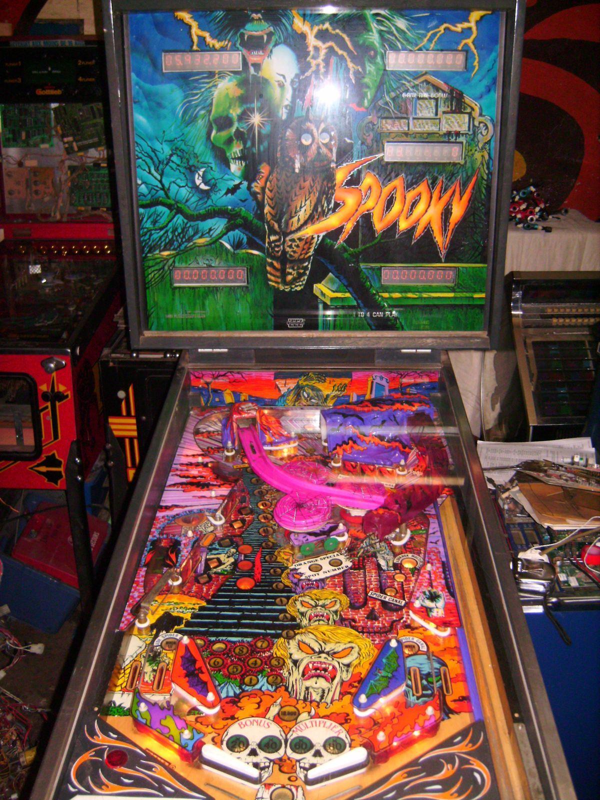Zaccaria Spooky pinball machine 1987 coin operated arcade game
