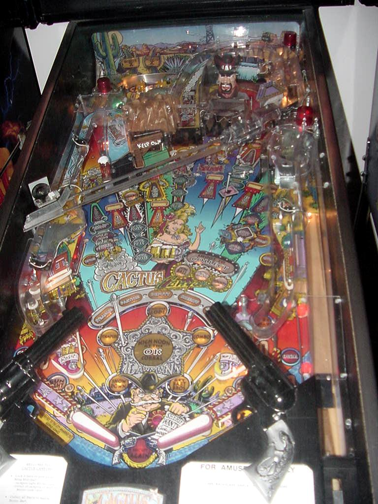Bally Cactus Canyon pinball machine  collector buying